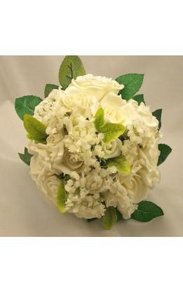 Bouquet sposa rose avorio e boccioli