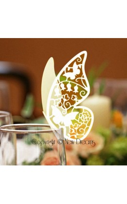 Segnaposto farfalla avorio (12pz)
