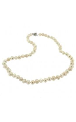 Parure perle vere bianche