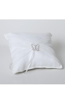 Cuscino porta fedi con farfalla bianco