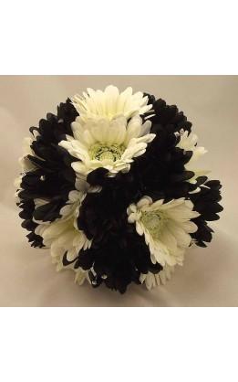 Bouquet sposa Gerbere bianche e nere