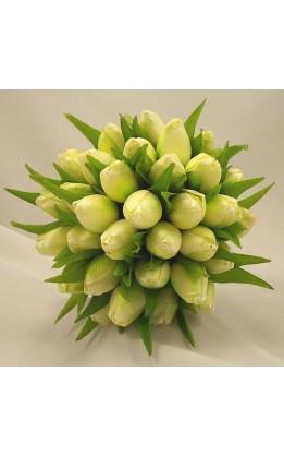 Bouquet sposa tulipani avorio