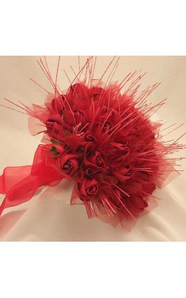 Bouquet sposa rose rosse diamond strands