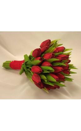 Bouquet sposa tulipani rossi