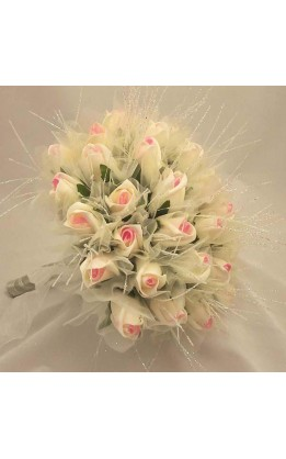 Bouquet sposa rose screziate rosa diamond strands