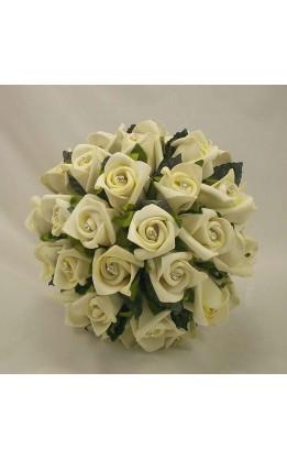 Bouquet sposa boccioli rosa avorio con diamanti