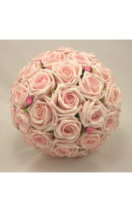 Bouquet sposa rose mix rosa e diamanti