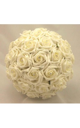 Bouquet sposa rose avorio e diamanti