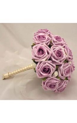 Bouquet sposa rose lilla e avorio