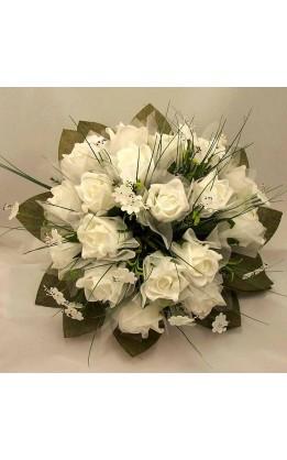 Bouquet sposa rose bianche e fiori misti