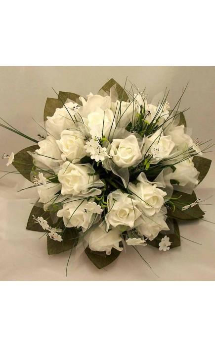 Bouquet Sposa Con Rose Bianche.Bouquet Sposa Rose Bianche E Fiori Misti