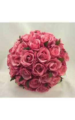 Bouquet sposa rose rosa scuro