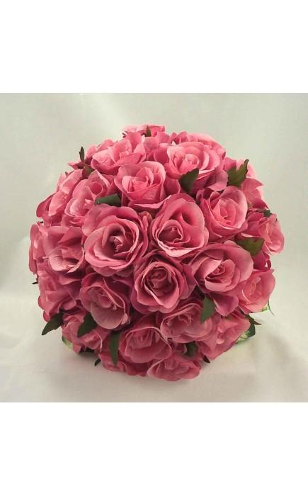 Bouquet Sposa Rose Rosa.Bouquet Sposa Rose Rosa Scuro