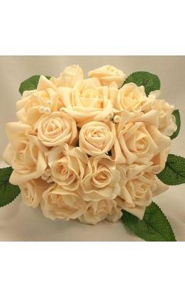 Bouquet sposa crema e perle