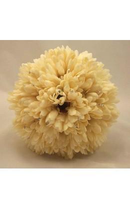 Bouquet sposa Gerbere Avorio e cristalli