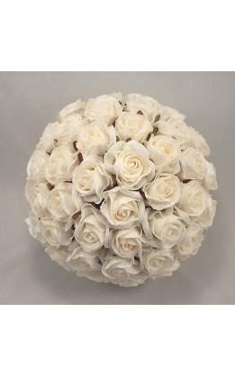 Bouquet sposa rose bianco-avorio