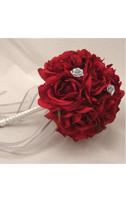 bouquet sposa rose rosse