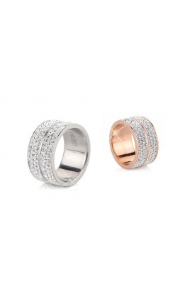 ANELLO CRYSTAL STEEL CON SWAROVSKI ELEMENTS