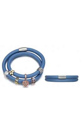 BRACCIALE COMPONIBILE CON CHARMS E SWAROVSKI ELEMENTS DUE  FILE