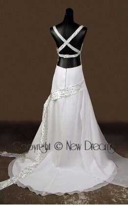 abito da sposa  tg 44/46 modello esclusivo