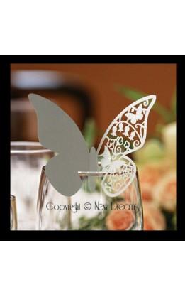 Segnaposto farfalla argento (12pz)