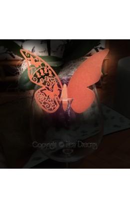 Segnaposto farfalla bronzo  (12pz)
