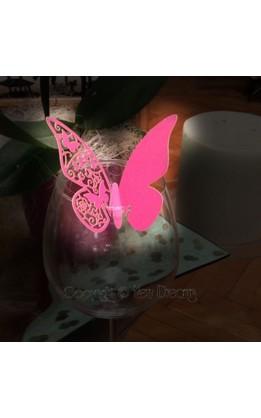 Segnaposto farfalla fucsia (12pz)