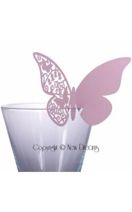 Segnaposto farfalla lilla (12pz)
