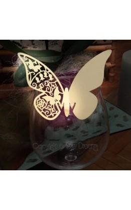 Segnaposto farfalla light gold (12pz)