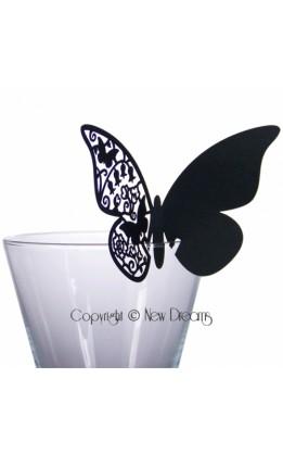 Segnaposto farfalla nero (12pz)