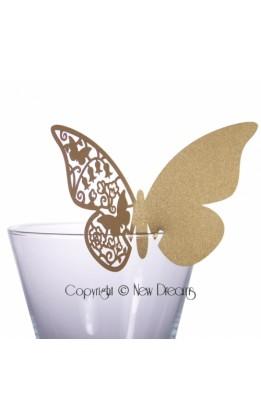 Segnaposto farfalla oro (12pz)