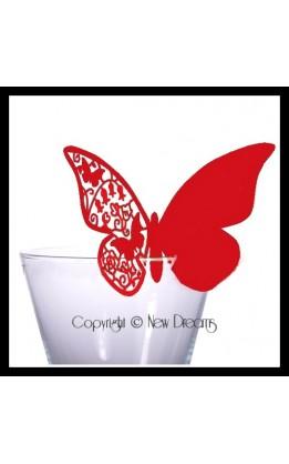 Segnaposto farfalla rosse (12pz)