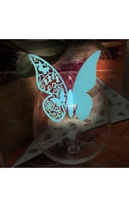 Segnaposto farfalla color tiffany (12pz)