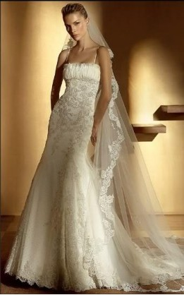 abito da sposa V1243