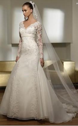 abito da sposa V2032