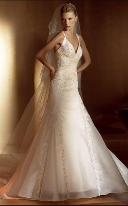 abito da sposa V2048