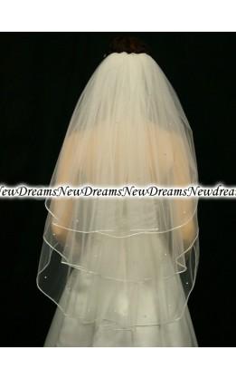 Velo sposa V101-Avorio-91 cm-con cristalli