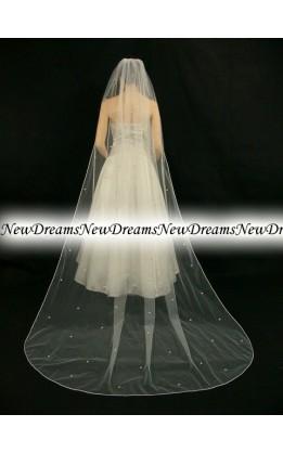 Velo sposa V118-Avorio-275 cm-con cristalli