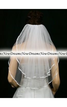 Velo sposa V136-Bianco-63 cm