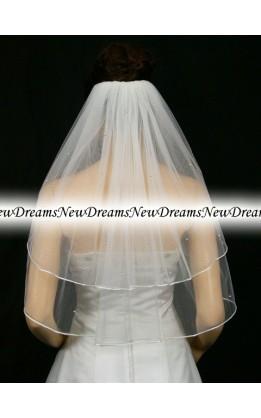Velo sposa V150-Bianco-63 cm-con cristalli
