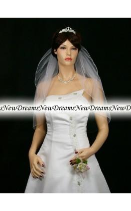 Velo sposa V154-Bianco-63 cm