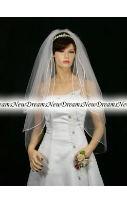 Velo sposa V172-Bianco-91 cm
