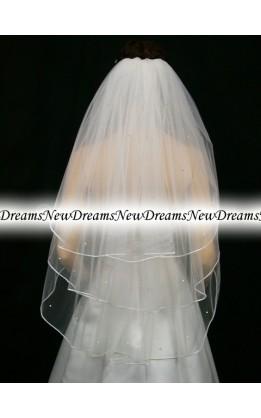 Velo sposa V173-Bianco-91 cm-con cristalli