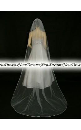 Velo sposa V01-Bianco-275 cm