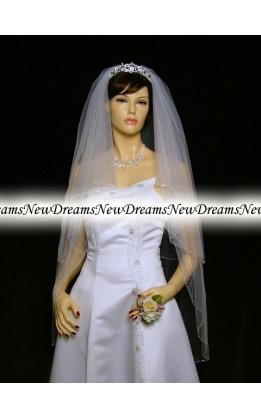 Velo sposa V05-Bianco-96 cm