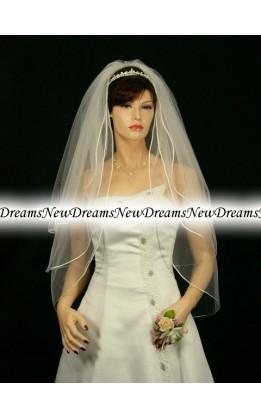 Velo sposa V84-Avorio-91 cm
