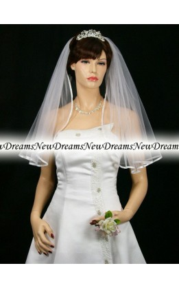 Velo sposa V99-Bianco-76cm