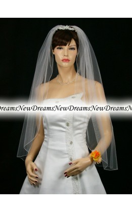 Velo sposa V33-Bianco-91cm