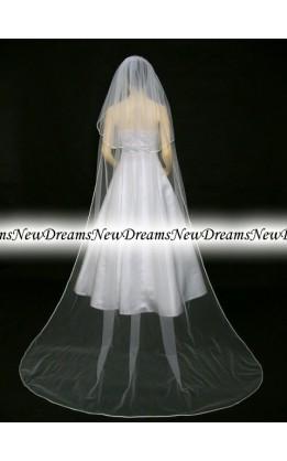 Velo sposa V176-Bianco-275 cm