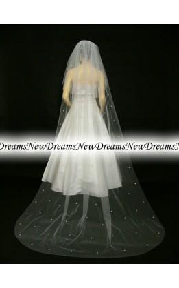 Velo sposa V203-Avorio-275 cm- con cristalli